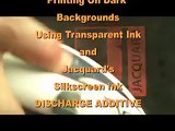 Printing Transparent Inks with a Discharge Additive as an alternative to Opaque Inks