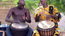 The Late Great Mali Master Drummer (Djembe Fola) Aruna Sidibe w/ Brulye Dounbia in Mali (HD)