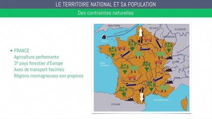 Brevet géographie - Le territoire national et sa population