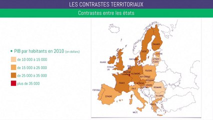 Brevet géographie - Les contrastes territoriaux de l'UE