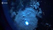 Striking lightning from space