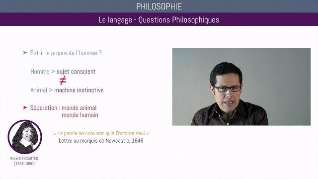Bac philo - Le langage