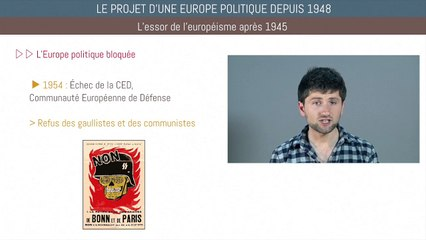 Bac histoire - Le projet d'une Europe politique