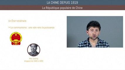 Bac histoire - La Chine depuis 1919