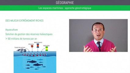 Bac géographie - Les espaces maritimes : approche géostratégique