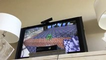Minecraft Xbox Minecraft trolling a 90 year old epoxieds like a creeper
