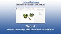 Insérer une image dans une forme automatique sur Word
