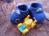 zapatitos a crochet con graficos