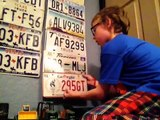 How to hang your license plates on the wall