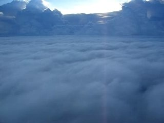 Flying over the sea of cloud