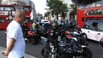 We wait.   It's what we do. (Bike Protest Trafalgar Square, London)
