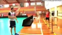 Gustavo e Murilo Endres reencontram professor que os ensinou a jogar volei