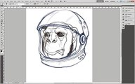 Adobe Illustrator Tutorial- How to Draw an Astrochimp