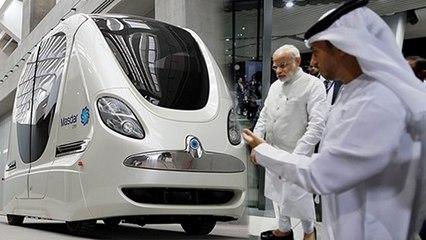 PM Modi rides a Self-Driven Car in Masdar | PM Modi In UAE