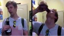 Drunk College Kid Chugs Bottle Of Maple Syrup In 40 Seconds