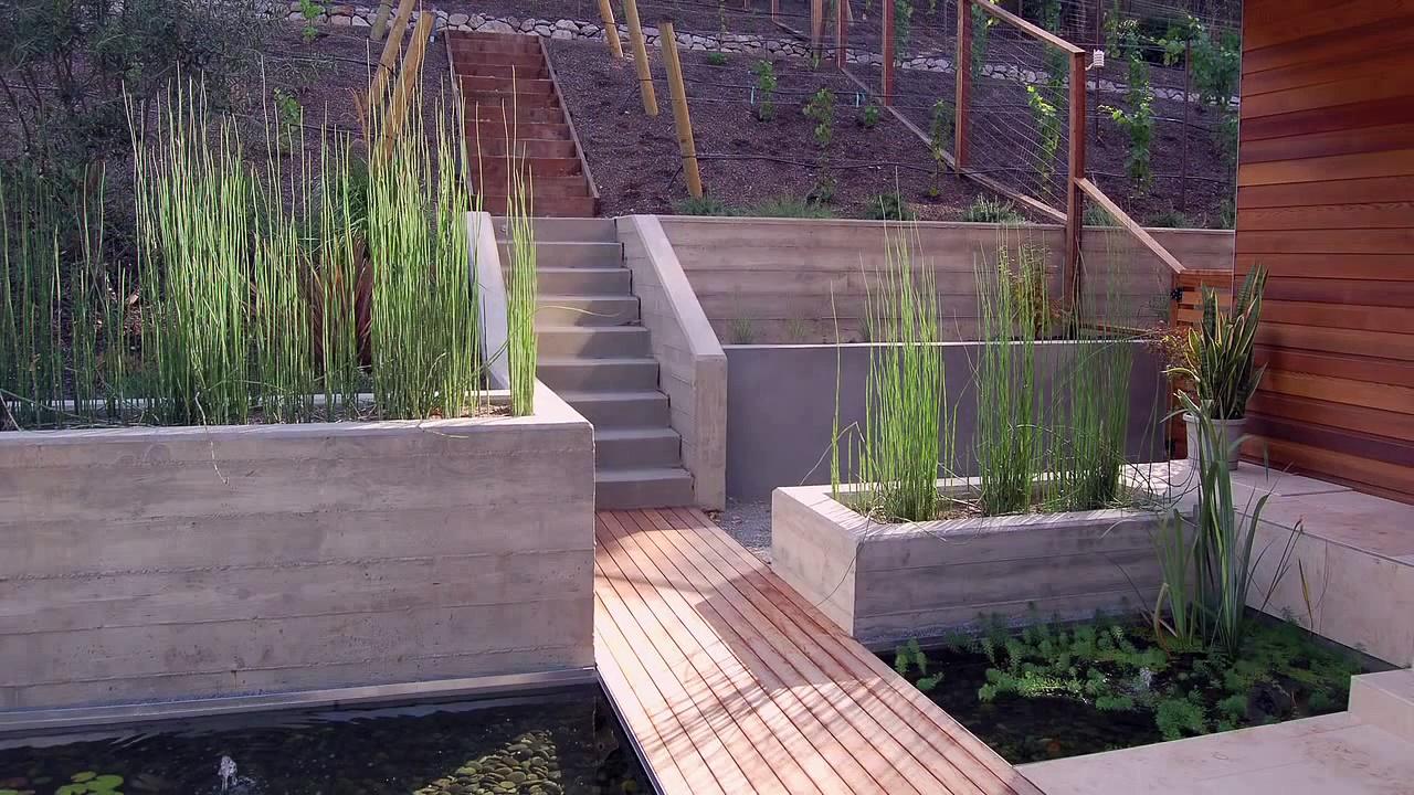 Pond Design — Metal Entryway Pond