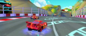 CARS 2 Lightning Mcqueen Racing Francesco Bernoulli in an Epic Race!