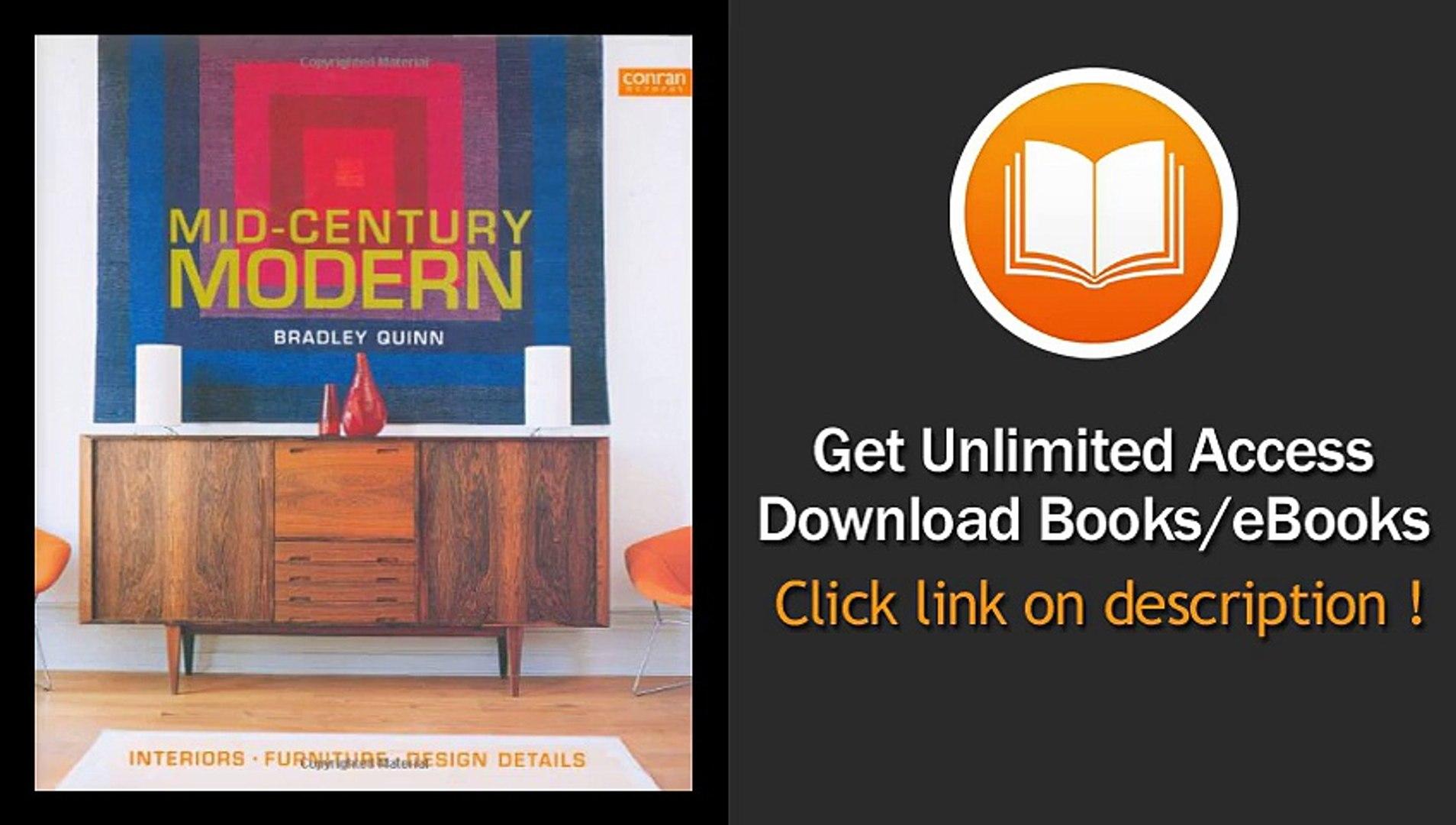 Mid-Century Modern Interiors Furniture Design Details -  BOOK PDF