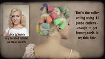 Old Hollywood hair tutorial: No heat bouncy vintage curls overnight Pinup soft waves
