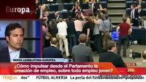 Pablo Iglesias (Podemos) en Televisión Española (RTVE). Programa Europa