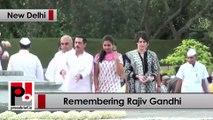 Sonia Gandhi, Rahul and Priyanka Gandhi pay tribute to Rajiv Gandhi