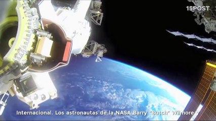 Astronautas de la NASA llevan una GoPro en su caminata espacial