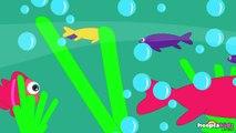Canciones de la Granja: 12345 Once I Caught a Fish Alive | Learn Españoles Latino HooplaKidzspsl