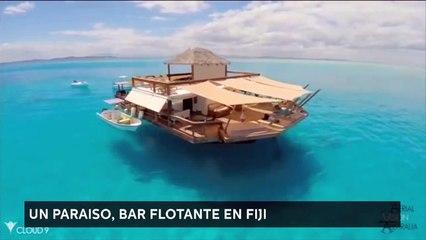 Bar flotante en Fiji, un paraíso en el medio del oceano