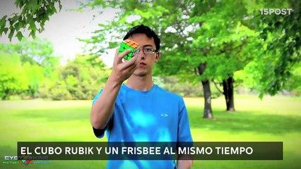 Completó el cubo Rubik con una sola mano en menos de 50 segundos