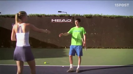 Djokovic y Sharapova asombrados con los trucos de habilidoso joven