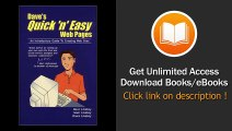 Daves Quick N Easy Web Pages An Introductory Guide To Creating Web Sites EBOOK (PDF) REVIEW