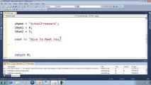 QBasic Tutorial 4 - Variables And Data Types - QB64 - video