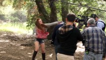 (Holland Roden France) Teen Wolf Bonus Clip Stunt Fighting