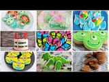 Spring Birthday Cake Cookies Tutorial, Decorating with Royal Icing