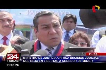 Adrianzén critica decisión judicial que deja en libertad a agresor de mujer en Piura