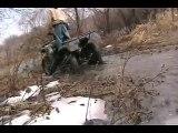 Honda Rancher 350 4x4 put to the test, mud, ice, water, air..Mudding, offroading! BADASS ATV!!