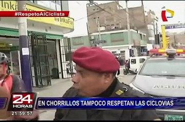 En Chorrillos tampoco respetan las ciclovías