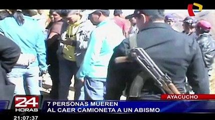 Caída de camioneta a abismo deja siete muertos en Ayacucho