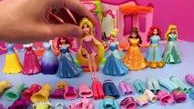 Frozen Elsa DisneyCarToys Kids Toys Disney Princess Magic Clip Dolls Polly Pocket Dress Up Dolls