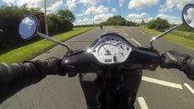 Vespa gts 125 ride in the sun