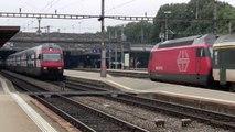 Swiss Trains: SBB in Winterthur / Passenger trains 4/4