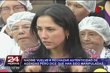 Nadine vuelve a rechazar autenticidad de agendas pero dice que han sido manipuladas
