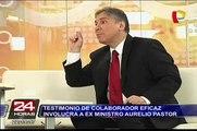 Narcoindultos: testimonio de colaborador eficaz involucra a exministro Aurelio Pastor