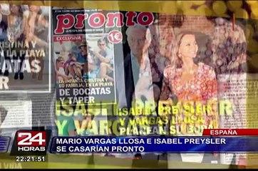 España: Mario Vargas Llosa e Isabel Preysler se casarían pronto
