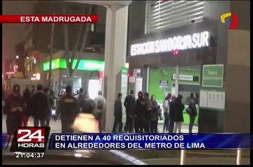 Detienen a más de 40 requisitoriados en alrededores del Metro de Lima