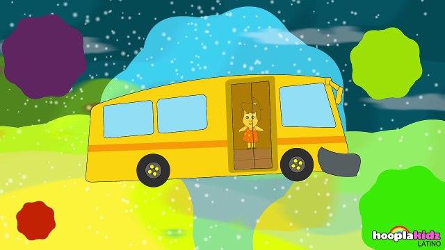 Ruedas en el autobús | rimas infantiles inglesas | canciones para niñossp