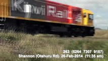 Manawatu (PN to Shannon - 3 Freights - Pacing) 2014-02-26