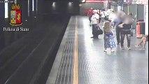 Milano - Ragazza tenta il suicidio sui binari della metro (20.08.15)