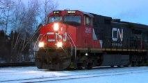 CN Blue Devil 2462 on CSX Q357 Train