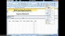 Travel Expense Report for Web Learning Associates Part 1